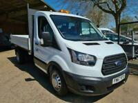 2017 67 FORD TRANSIT 350 SINGLE CAB ALLOY TIPPER 130 PS *53000 MILES*EURO 6*