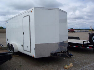Dual axle covered trailer