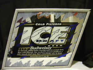 Brand New Beer Mirror- Black frame - Protected tape on it
