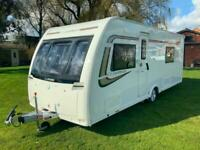 2015 Lunar Clubman SB Used 4 Berth single axle touring caravan twin beds
