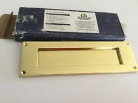 Heritage Letter Box Brass Plate spring loaded door