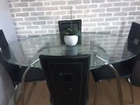 Glass kitchen table 4 seater