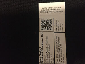 Two Streetheart Tickets (SOLD)