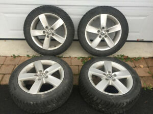 205/55/16 VW Jetta OEM Mags With Nexen Guard Winter Tires
