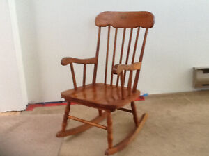 Child's all wood rocking chair