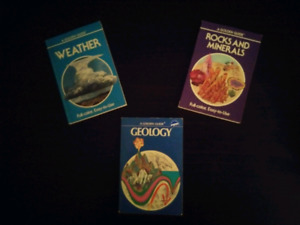 3 Golden Guide books. Geology, Rocks & Minerals, Weather.