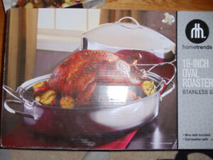 Like new condition 18 inch oval Aluminum roaster
