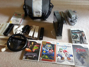 Nintendo Wii, 5 Games, 3 Controllers +