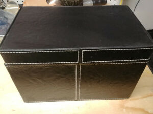 Leather CD/DVD/Blu Ray File Storage Case - 150 Capacity