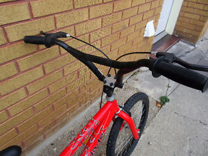 "red mountain bike (BMX).tire size 20""',like new no rust London Ontario image 2"