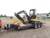 Owner operated Mini excavator for hire