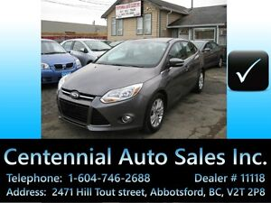 2012 Ford Focus SEL, Auto, Local BC, Clean title, only  110~km!