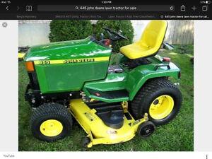 Wanted John Deere lawn tractor