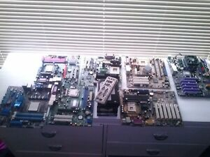 Various Motherboards, all post except bottom 2 left