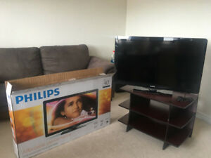 "Phillips 40"" HD LCD TV! It Stayed in the Box!"