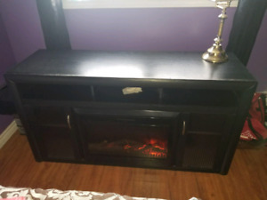 Electric Fireplace TV stand Black