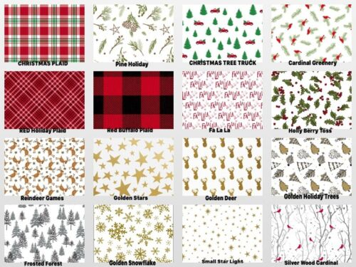 "HOLIDAY Design Gift Tissue Paper Sheets 15"" x 20"" Choose Print & Pack Amount"