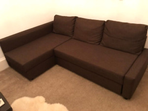 Mint condition brown ikea sofa bed sectional
