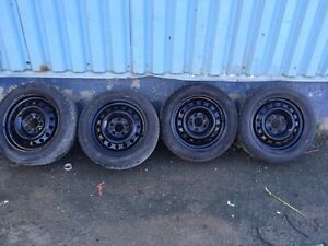 Tires and rims off 2013' civic 205/55r16 St. John's Newfoundland image 2