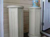 wooden plant pedestals