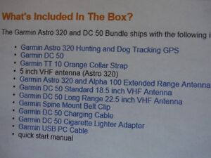 New Garmin Astro 320 with DC 50 Dog Tracker and More