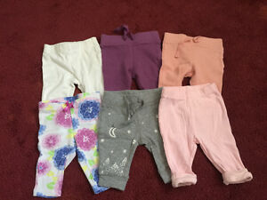 Slightly used baby girl clothes size 0-3