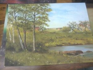RURAL ROOTS DECOR SHOP:  P696 Oil Painting N.S. Artist & more