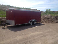 USC Cargo Tandem Axle Enclosed Trailer. New Axles