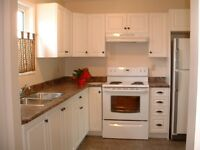 3 bedroom, 1 1/2 bath in renovated suite in side by side 4 plex
