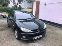 Peugeot 206 1.4 2006 Verve model in Jet black 46865 miles