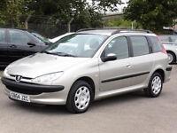2004 Peugeot 206 S Sw, 1360CC Petrol, 5DR, Manual