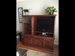 Solid maple tv cabinet