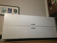 Two doors white pantry cabinet