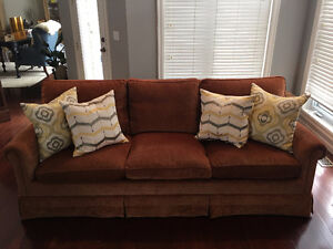 REDUCED PRICE!!! $1650 Down Fill Couch & Loveseat