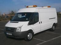 2011 11 FORD TRANSIT 2.4 TDCi 115PS 350 LWB MED ROOF PANEL VAN WHITE