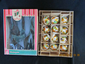 Vintage Glass Christmas Ornaments $25 per box