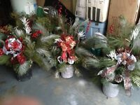 BEAUTIFUL CHRISTMAS GREENS PLANTERS - GET YOURS NOW