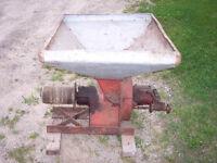 antique massey harris grinder