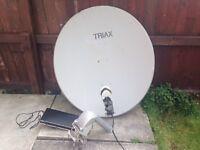 Satellite dish & LMB &Router