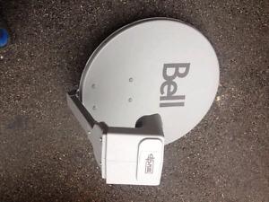 Bell satellite dish with DPP quad lnb