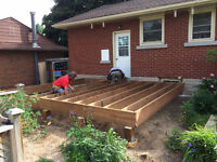 "19'-6"" x 12' pressure treated deck material"