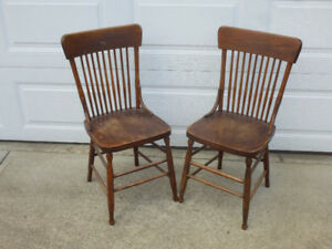 Old Style Wood Chairs