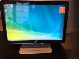 """Hewlett Packard 19"""" LCD Widescreen colour monitor."""