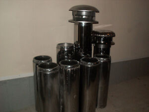 """7""""and 8"""" insulated chimney pipes for wood stoves and fireplaces."""