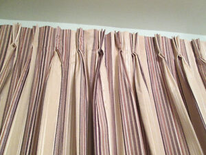 Custom made,new pinch pleated, drapery-curtains for two windows Kingston Kingston Area image 5