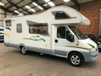 NOW SOLD Fiat DUCATO 18 JTD LWB SWIFT SUNTOR 630G 6 BERTH MOTORHOME REAR BED
