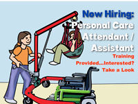Personal Care Attendant - training provided