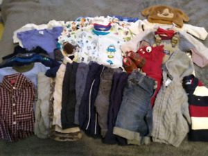Large Lot Boy's 3-6/months Clothing