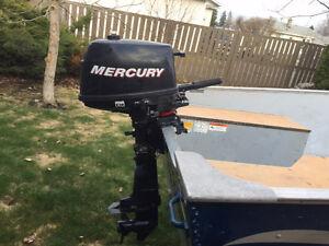 2008 4 Stroke 4 HP Mercury short shaft Outboard