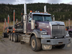 2013 Western Star Tri-axle Logging Truck and Trailer